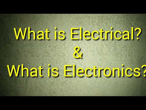 Electrical and Electronics difference.