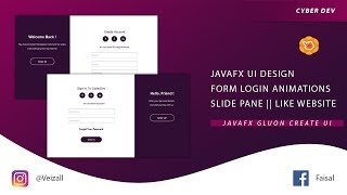 Create a Cool Login Form With Slide Effects || JavaFX Scene Builder