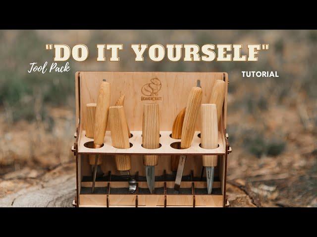 Wooden DIY Tool Rack for Proper Tools Storage
