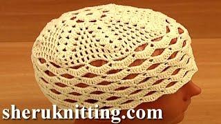 Crochet Easy Hat For Women Tutorial 10 Part 1 of 2 قبعة بسيطة الكروشيه