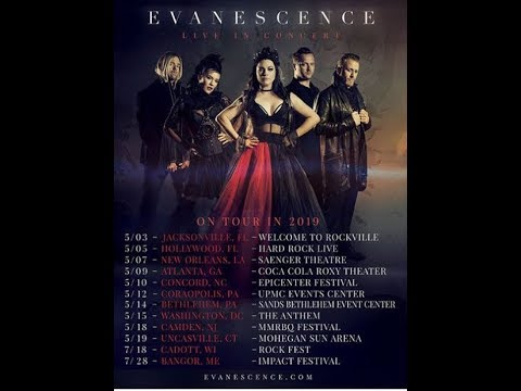 Evanescence announced a 2019 tour in May and some dates in July ...  ..