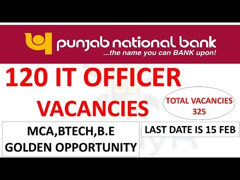325 Vacancies Of Specialist Officer in Punjab National Bank   120 Vacancies For IT Officer Mp3