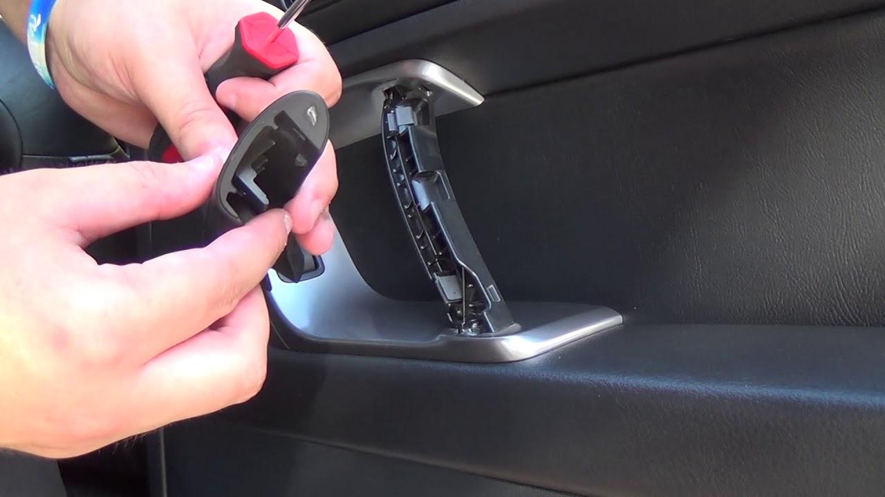 How To Remove Interior Door Handle Trim 2005 2009 Subaru Legacy Outback Youtube
