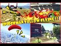 Hero Yellow Cartoon Spiderman Police & Cars Flying In The Sky and Children Songs