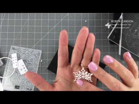Stampin' Up! NEW Snow is Glistening Sparkly Card -EPISODE SIX HUNDRED SIXTY FOUR!!