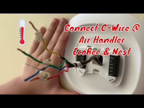 C Wire for EcoBee,  Nest & Honeywell Thermostats - Beginning to End   running new wires - SmartHome