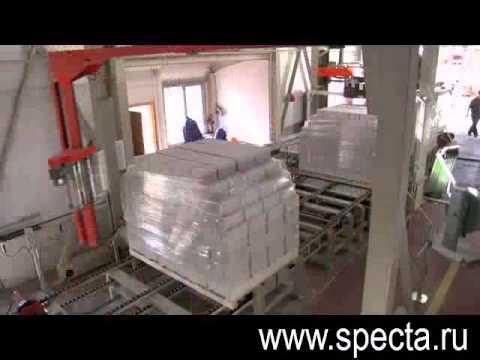 Упаковка силикатного кирпича