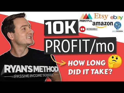 Print on Demand Income: From $0 to $10,000/mo (MY STORY)