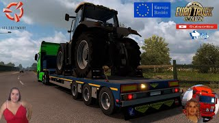 """Euro Truck Simulator 2 (1.38)   Ownable overweight trailer Broshuis v1.2.4 by Jazzycat Delivery to Szeged Hungary Iveco S-Way 2020 v2.5 by HBB Store Animated gates in companies v3.7 [Schumi] Real Company Logo v1.0 [Schumi] Company addon v1.8 [Schumi] Trailers and Cargo Pack by Jazzycat Motorcycle Traffic Pack by Jazzycat FMOD ON and Open Windows Naturalux Graphics and Weather Spring Graphics/Weather v3.6 (1.38) by Grimes Test Gameplay ITA Europe Reskin v1.0 + DLC's & Mods https://ets2.lt/en/ownable-overweight-trailer-broshuis-v1-2-4/  SCS Software News Iberian Peninsula Spain and Portugal Map DLC Planner...2020 https://www.youtube.com/watch?v=NtKeP0c8W5s Euro Truck Simulator 2 Iveco S-Way 2020 https://www.youtube.com/watch?v=980Xdbz-cms&t=56s Euro Truck Simulator 2 MAN TGX 2020 v0.5 by HBB Store https://www.youtube.com/watch?v=HTd79w_JN4E  #TruckAtHome #covid19italia Euro Truck Simulator 2    Road to the Black Sea (DLC)    Beyond the Baltic Sea (DLC)   Vive la France (DLC)    Scandinavia (DLC)    Bella Italia (DLC)   Special Transport (DLC)   Cargo Bundle (DLC)   Vive la France (DLC)    Bella Italia (DLC)    Baltic Sea (DLC) Iberia (DLC)   American Truck Simulator New Mexico (DLC) Oregon (DLC) Washington (DLC) Utah (DLC) Idaho (DLC) Colorado (DLC)     I love you my friends Sexy truck driver test and gameplay ITA  Support me please thanks Support me economically at the mail vanelli.isabella@gmail.com  Roadhunter Trailers Heavy Cargo  http://roadhunter-z3d.de.tl/ SCS Software Merchandise E-Shop https://eshop.scssoft.com/  Euro Truck Simulator 2 http://store.steampowered.com/app/227... SCS software blog  http://blog.scssoft.com/  Specifiche hardware del mio PC: Intel I5 6600k 3,5ghz Dissipatore Cooler Master RR-TX3E  32GB DDR4 Memoria Kingston hyperX Fury MSI GeForce GTX 1660 ARMOR OC 6GB GDDR5 Asus Maximus VIII Ranger Gaming Cooler master Gx750 SanDisk SSD PLUS 240GB  HDD WD Blue 3.5"""" 64mb SATA III 1TB Corsair Mid Tower Atx Carbide Spec-03 Xbox 360 Controller Windows """