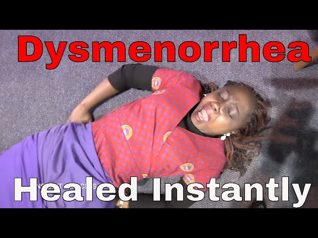 Dysmenorrhea healed instantly