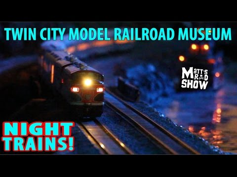MODEL TRAINS IN ACTION AT NIGHT! – HUGE MODEL RAILROAD LAYOUT! – REAL TRAIN SOUNDS – Matt's Rad Show
