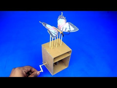 How to Make a Cardboard Butterfly Toy for Kids DIY AT HOME