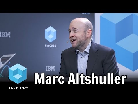 Marc Altshuller, IBM - World of Watson 2016 - #ibmwow - #theCUBE ...