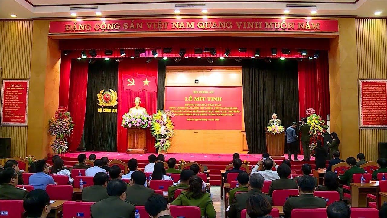 Bộ Công an mít tinh hưởng ứng Ngày Pháp luật nước Cộng hòa xã hội chủ nghĩa Việt Nam