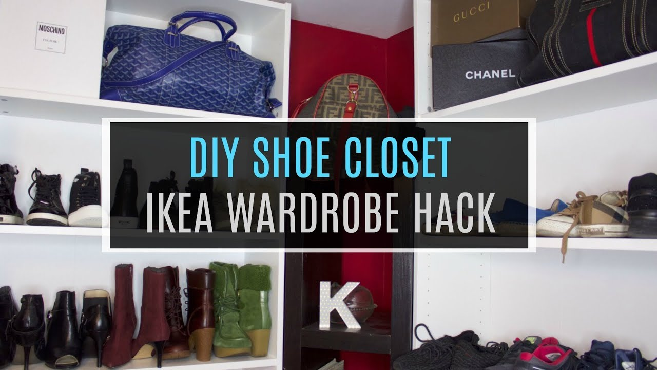 DIY #ClosetGoals IKEA Shoe Closet HACK