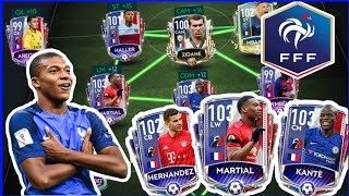 SICKEST POSSIBLE FULL FRENCH FRANCE TEAM IN FIFA MOBILE 20 500 MILLION COINS SPENT H2H GAMEPLAY