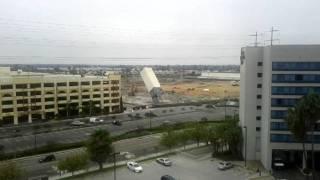 Mervyn's tower in HB coming down.