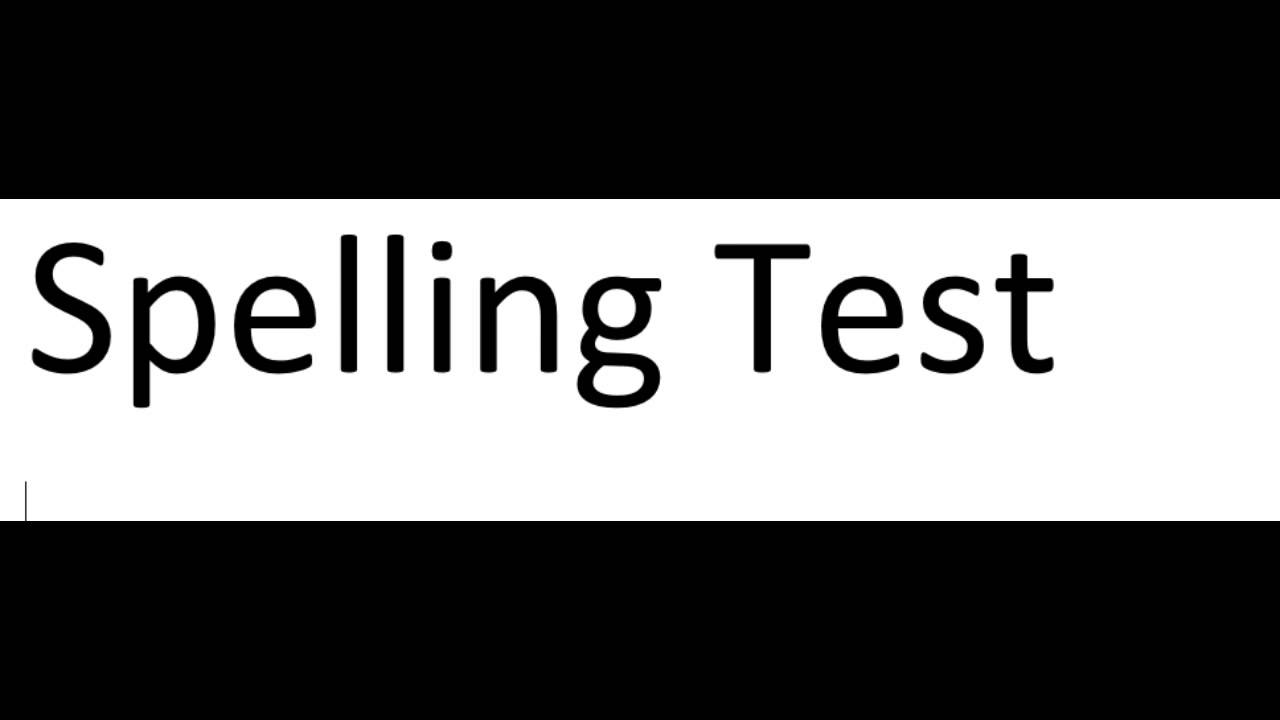 4th Grade: Lesson 9: Day 5: Spelling Test - YouTube