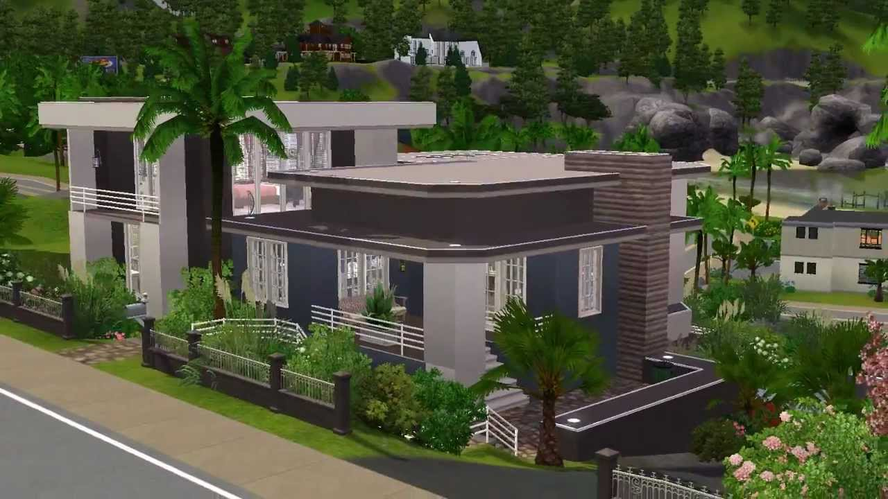 The Sims 3 - Building a hillside house - YouTube
