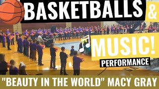 """Lapel Elementary 3rd Grade Basketball Routine to """"Beauty in the World"""""""