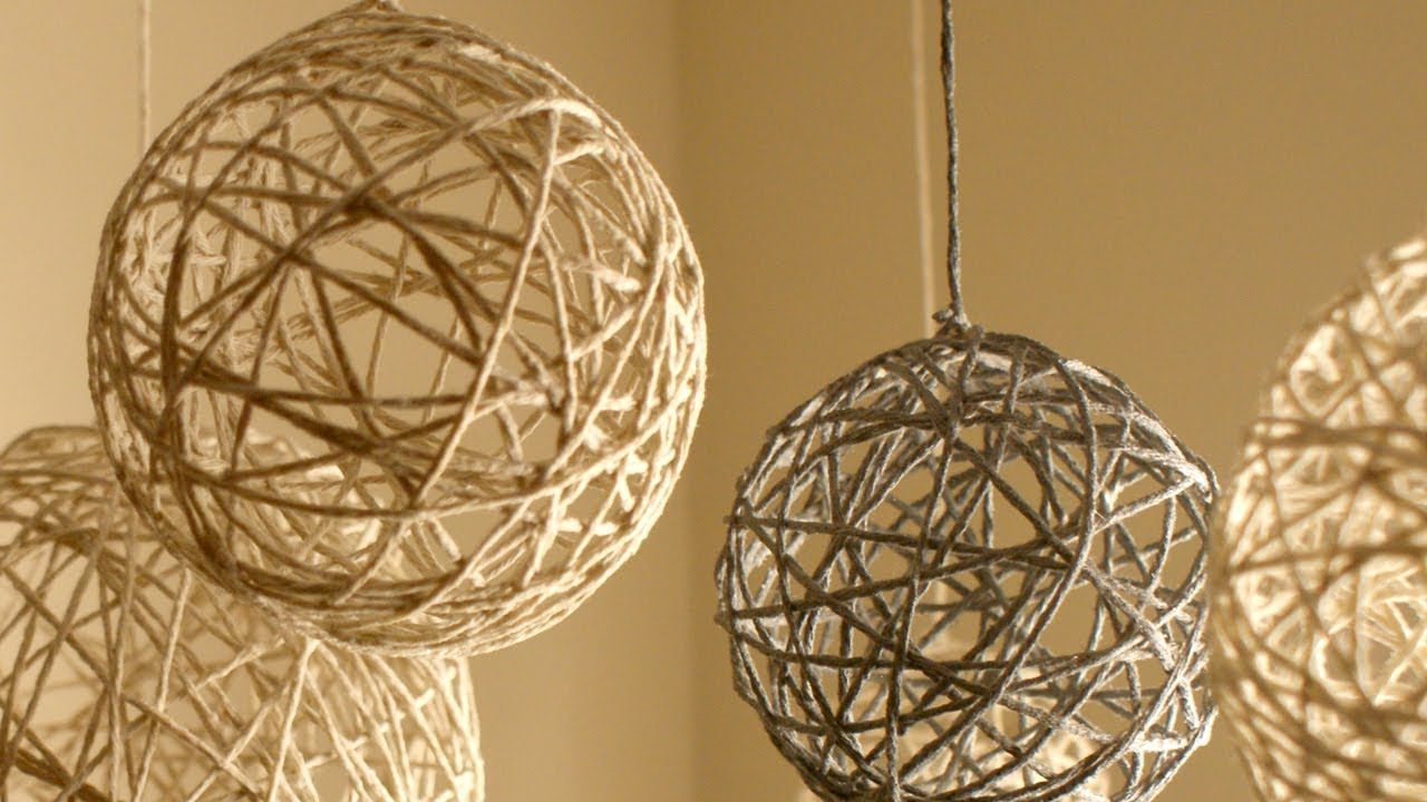 diy christmas string ornaments and lanterns doovi