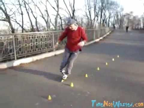 Download Russian Grandpa Demonstrates Roller Blading Skills
