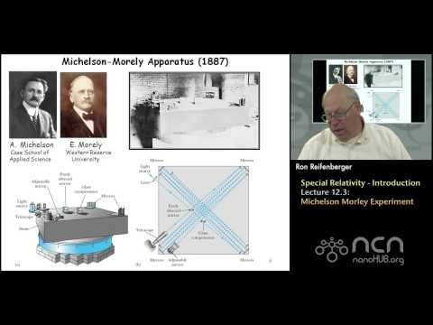 Purdue PHYS 342 L12.3: Special Relativity-Introduction: Michelson Morley Experiment