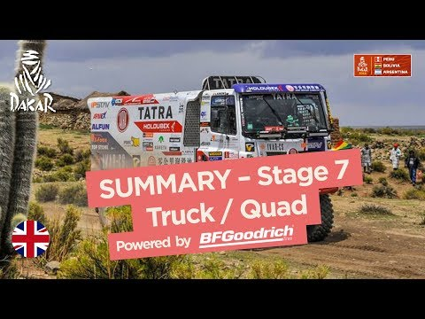 Summary - Truck/Quad/SxS - Stage 7 (La Paz / Uyuni) - Dakar 2018