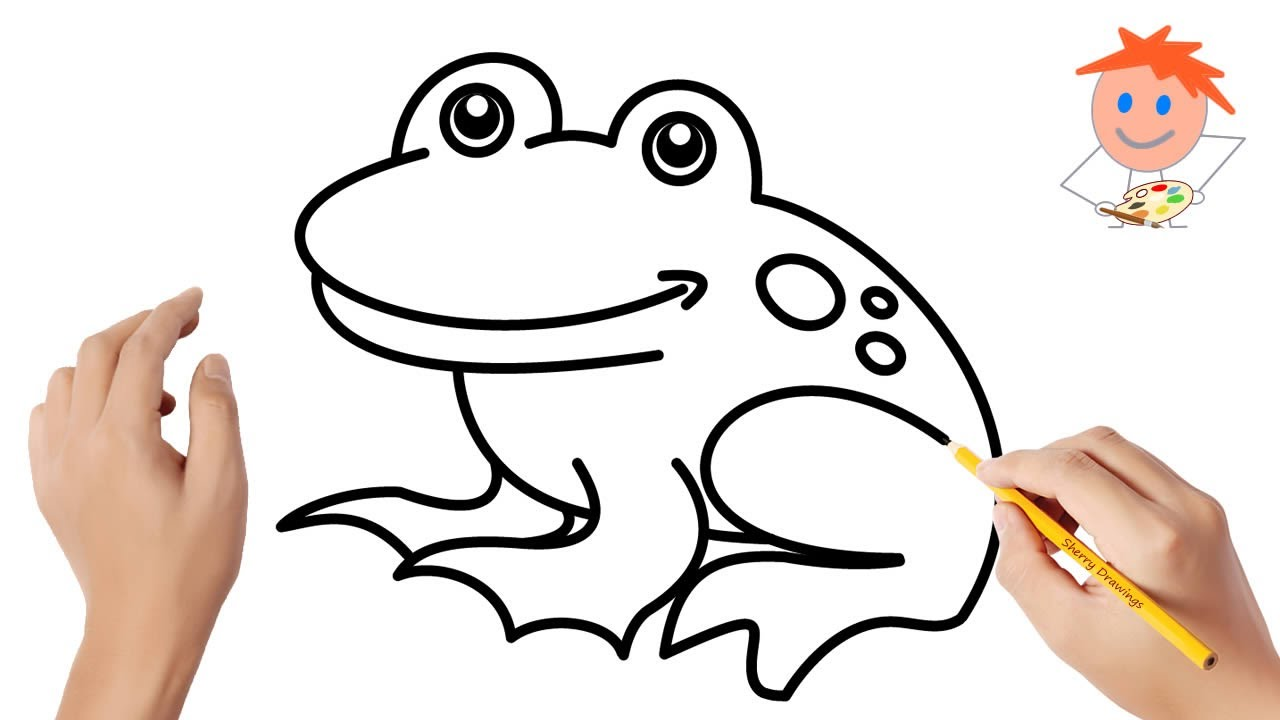 How to Draw a Frog Easy Step by Step   Drawing for Kids ...