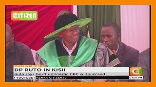 Ruto attends graduation ceremony at Kisii Polytechnic