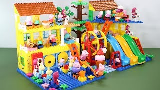 Peppa Pig Lego House With Water Slide Toys For Kids #3