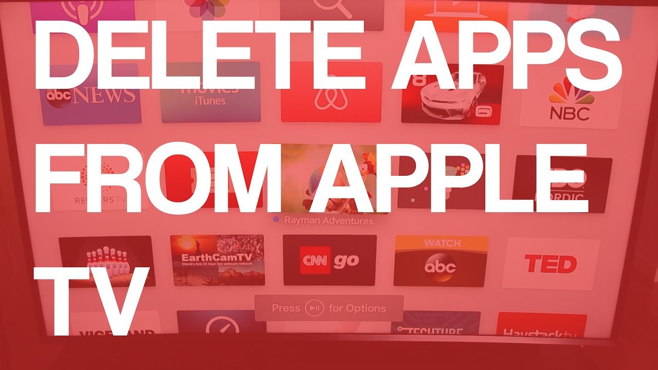 How to delete apps on apple tv 4 youtube how to delete apps on apple tv 4 ccuart Images