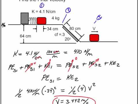 Potential and Kinetic Energy: Mass on an Incline with