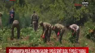 DİYARBAKIR'DA POLİS ARACINA SALDIRI: 1 POLİS ŞEHİT, 1'İ POLİS 7 YARALI