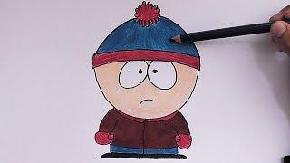 Dibujando y pintando Stan Marsh (South Park) - Drawing and painting Stan Marsh