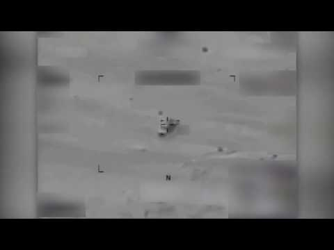 NATO Unclassified: 2-22-17. Drone Strike Targets A Fleeing ISIS Vehicle - It Goes KABOOM!