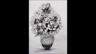 BEAUTIFUL HOME DECORATION VAS PAINTING/ PENCIL DRAWING/PENCIL SKETCH/HOW TO DRAW