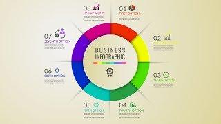 free rainbow circle design infographic download illustrator tutorial