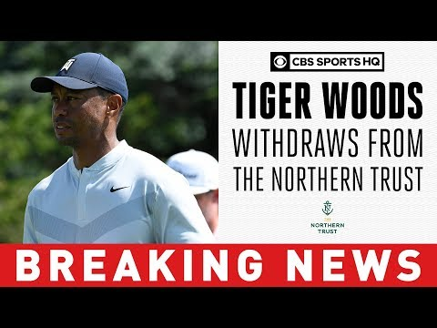 Tiger Woods withdraws from 2019 Northern Trust with 'mild oblique strain'    CBS Sports HQ