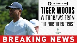 Tiger Woods withdraws from 2019 Northern Trust with 'mild oblique strain'  | CBS Sports HQ