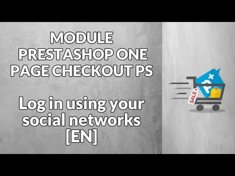 Module PrestaShop - One Page Checkout PS - Log in using your social networks [EN]
