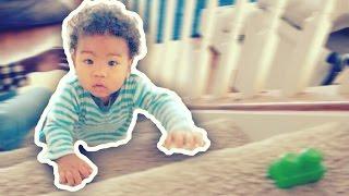 6 MONTH OLD BABY CRAWLING UP STEPS | AMBW VLOG