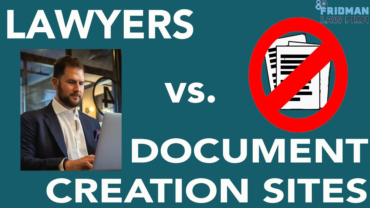 Forming a Business Entity: Lawyers vs. Document Creation Sites