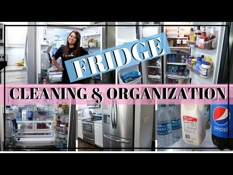 REFRIGERATOR ORGANIZATION IDEAS | CLEAN WITH ME | ORGANIZE YOUR FRIDGE