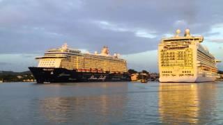 Cruise Ship Horn!! Mein Schiff 3 Saying Goodbye P&O Cruises AZURA
