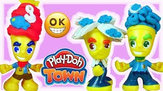 Play Doh Town • Męskie kolorowe fryzury • kreatywne zabawy