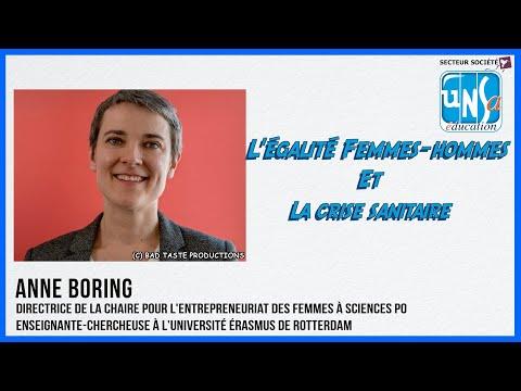 L'égalité Femmes Hommes et la crise sanitaire- Anne Boring