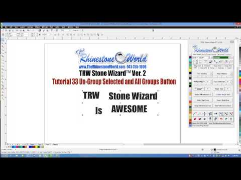 Tutorial 33: Un Group Selected and All Groups Button (TRW Stone Wizard™)