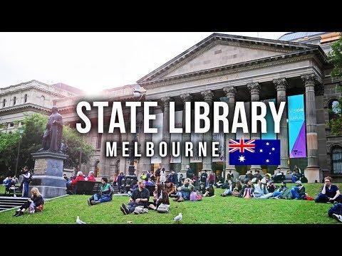 ห้องสมุดที่สวยที่สุดในเมลเบิร์น ออสเตรเลีย VLOG 49