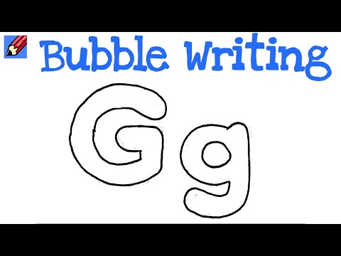 How To Draw Bubble Writing Real Easy Letter G Youtube